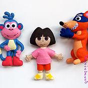 Куклы и игрушки ручной работы. Ярмарка Мастеров - ручная работа Даша, Башмачок и Жулик. Handmade.
