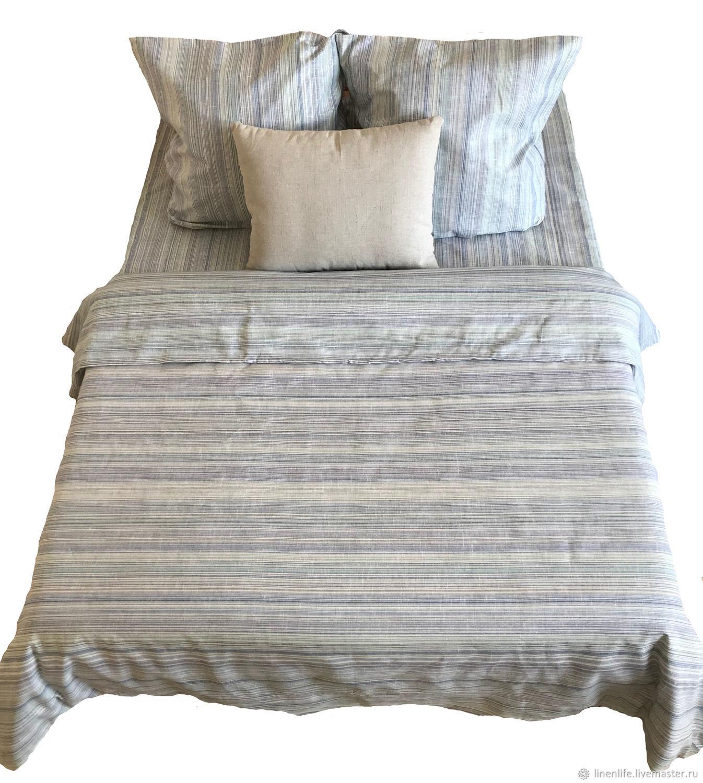 """Для дома и интерьера ручной работы. Ярмарка Мастеров - ручная работа. Купить Льняное постельное белье """"loft""""- Комплект постельного белья-кпб. Handmade."""