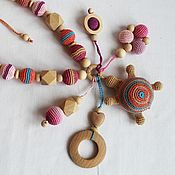 "Одежда handmade. Livemaster - original item Слингобусы с игрушкой-погремушкой "" Черепашка"". Handmade."
