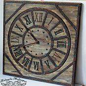 "Часы ручной работы. Ярмарка Мастеров - ручная работа Часы настенные 60см ""Western-II"". Handmade."