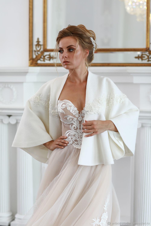 Свадебное Пальто Белое Свадебная накидка «Анжела», Накидки, Москва,  Фото №1