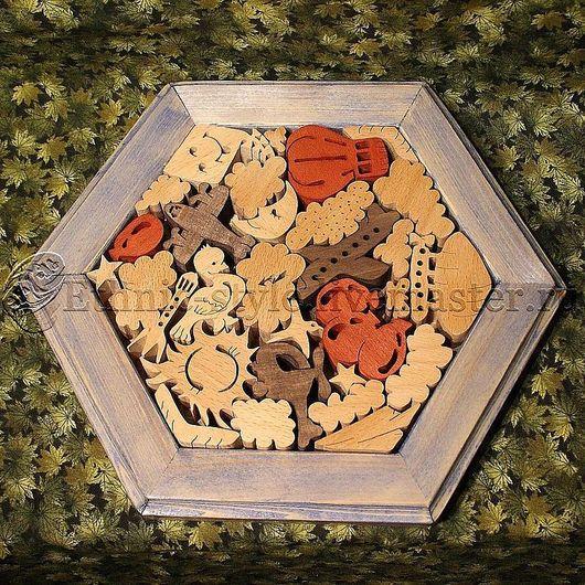 Развивающие игрушки ручной работы. Ярмарка Мастеров - ручная работа. Купить Воздушные просторы (настольная головоломка). Handmade. Голубой, подарок