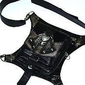 Сумки и аксессуары manualidades. Livemaster - hecho a mano Men`s leather bag - predator Mask. Handmade.