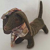"""Куклы и игрушки ручной работы. Ярмарка Мастеров - ручная работа Собака-такса """" Англичанин"""". Handmade."""