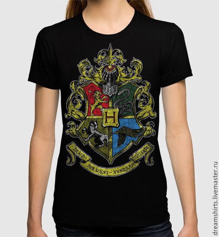 """Футболка с принтом """"Хогвартс"""", T-shirts, Moscow,  Фото №1"""