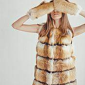 Одежда ручной работы. Ярмарка Мастеров - ручная работа Меховой жилет из лисы поперечный. Handmade.