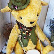 Куклы и игрушки ручной работы. Ярмарка Мастеров - ручная работа Мишка тедди Яша (40см.) с барабаном. Handmade.