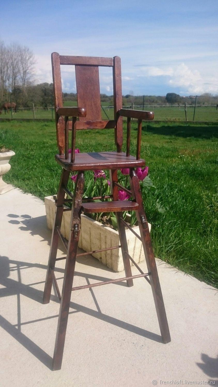 Винтажные куклы и игрушки. Ярмарка Мастеров - ручная работа. Купить Винтаж: Старинный кукольный стульчик для кормления. Handmade. Кукольная мебель