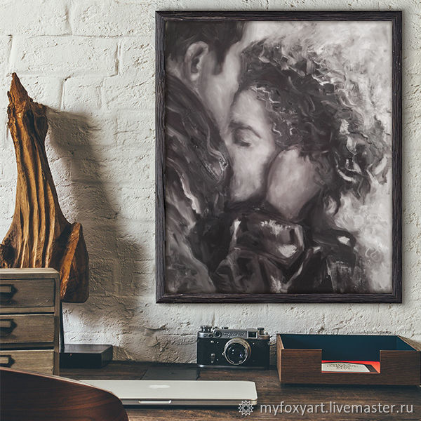 Meeting, 50h60cm, oil painting on canvas, lovers, two, love, Pictures, St. Petersburg,  Фото №1