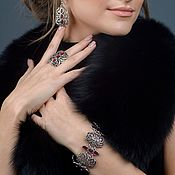 Украшения handmade. Livemaster - original item Bracelet Vertograd with ruby enamel. Handmade.
