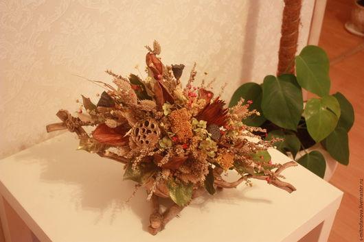 Интерьерные композиции ручной работы. Ярмарка Мастеров - ручная работа. Купить Интерьерная композиция из сухоцветов, авторская работа. Handmade.