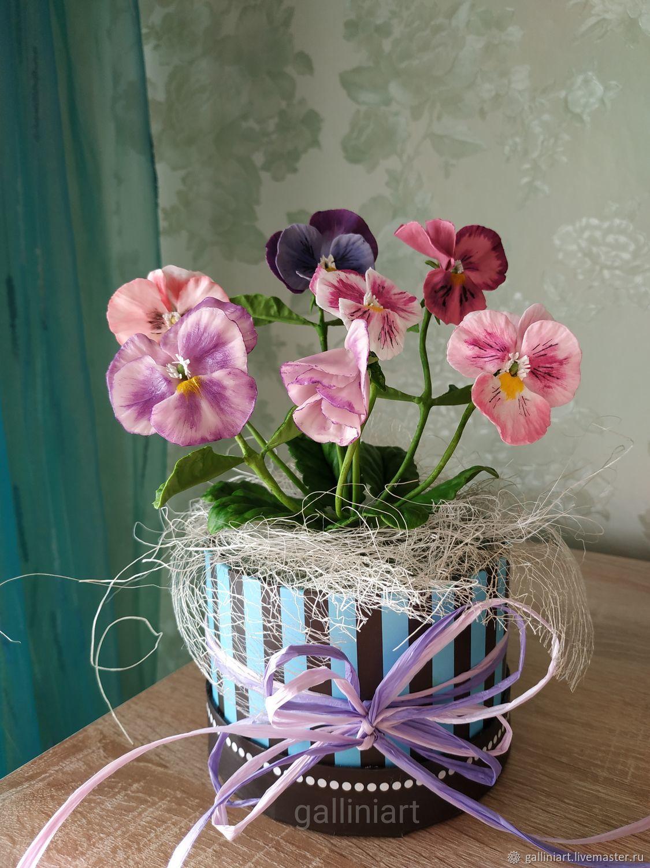 Цветы: анютины глазки – заказать на Ярмарке Мастеров ...