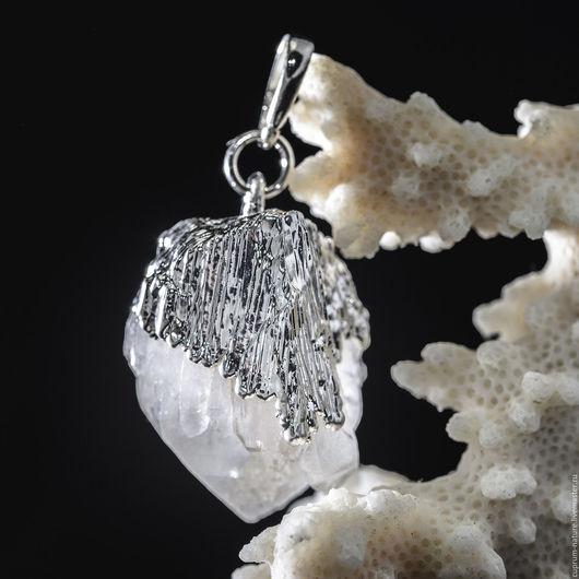 """Кулоны, подвески ручной работы. Ярмарка Мастеров - ручная работа. Купить Кулон """"Горный хрусталь"""" (кристаллы, натуральные камни) 58/41. Handmade."""