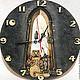 """Часы для дома ручной работы. Ярмарка Мастеров - ручная работа. Купить Часы """"Мудрая сова"""". Handmade. Часы, интерьер, панно"""