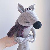 Куклы и игрушки ручной работы. Ярмарка Мастеров - ручная работа Харизматичный волк вязаная игрушка. Handmade.