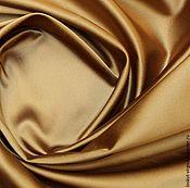 Материалы для творчества ручной работы. Ярмарка Мастеров - ручная работа Плотный атлас-стрейч (ватусса) цвет бронза 1190руб-м. Handmade.