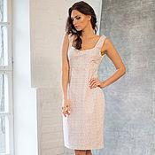 Одежда handmade. Livemaster - original item Cotton dress with shoulder straps and high waist. dress summer. Handmade.