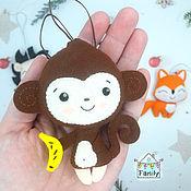 Сувениры и подарки handmade. Livemaster - original item Monkey felt. Handmade.