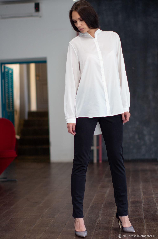 acb337c7c07 Блузки ручной работы. Ярмарка Мастеров - ручная работа. Купить Шелковая  блузка белая. Блузка ...