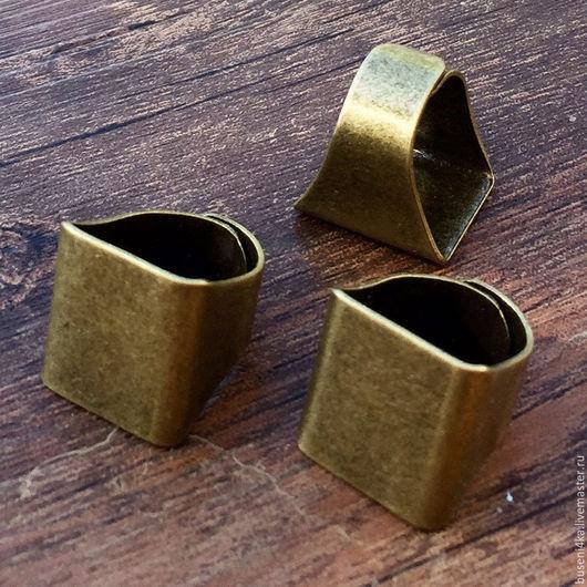 Для украшений ручной работы. Ярмарка Мастеров - ручная работа. Купить Основа для кольца / перстня 18х20мм, ант. бронза (1шт). Handmade.