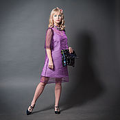 Одежда handmade. Livemaster - original item Violet Organza Mini Dress «May». Handmade.