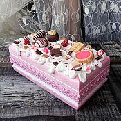 Для дома и интерьера handmade. Livemaster - original item The box is decorated with sweet soft pink. Handmade.
