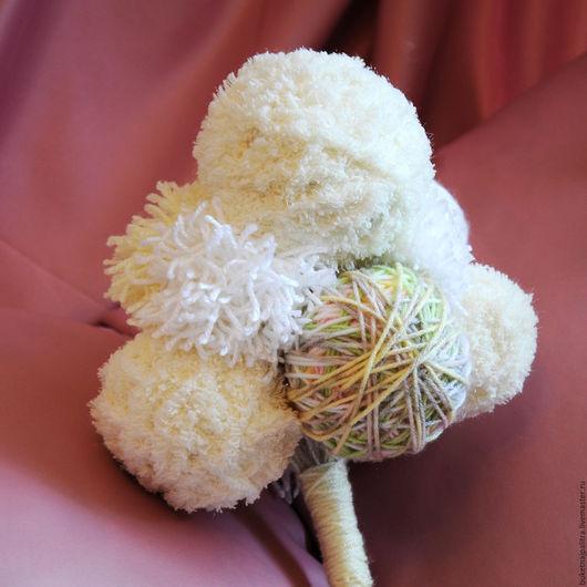 Свадебные цветы ручной работы. Ярмарка Мастеров - ручная работа. Купить Букет «Кремовый помпон». Handmade. Белый, помпон, букет
