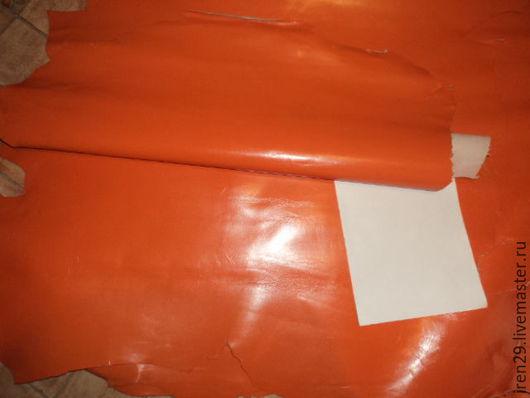 """Шитье ручной работы. Ярмарка Мастеров - ручная работа. Купить Натуральная кожа """"Апельсин"""". Handmade. Кожа, рыжий"""