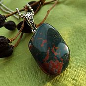 Фен-шуй и эзотерика handmade. Livemaster - original item Pendant with Heliotrope. Handmade.