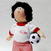 """Куклы и игрушки ручной работы. Ярмарка Мастеров - ручная работа Текстильная кукла """"Футболист"""". Handmade."""
