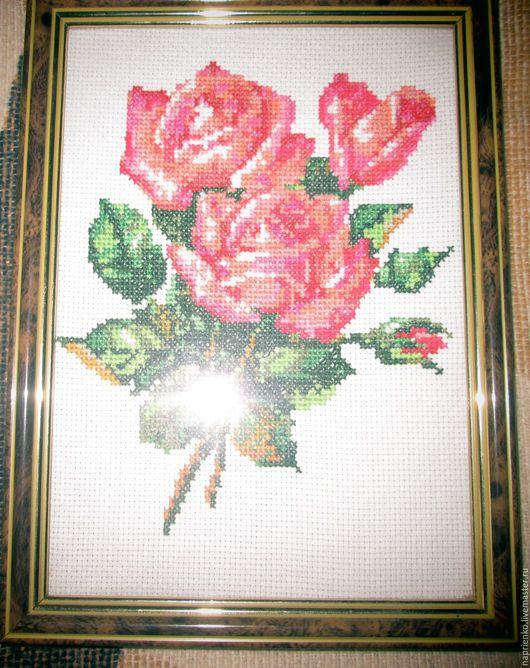"""Картины цветов ручной работы. Ярмарка Мастеров - ручная работа. Купить Картина """"Роза"""". Handmade. Ярко-красный, розы, букет"""
