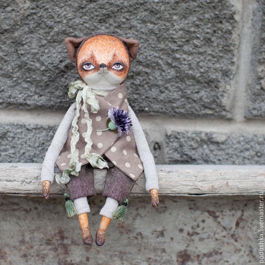 Коллекционные куклы ручной работы. Ярмарка Мастеров - ручная работа. Купить Лисёнок Вукки. Handmade. Оранжевый, авторская ручная работа