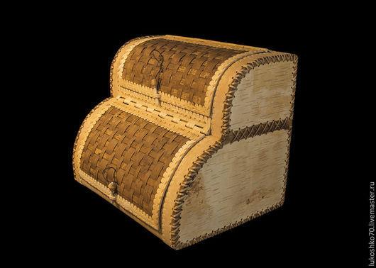 Кухня ручной работы. Ярмарка Мастеров - ручная работа. Купить Хлебница двухэтажная / двухъярусная из бересты. Handmade. Хлеб