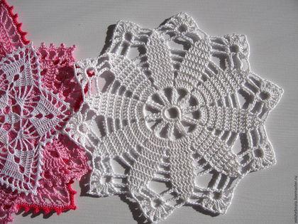 Текстиль, ковры ручной работы. Ярмарка Мастеров - ручная работа. Купить Салфетка Снежинка ажурная, кружевная, декор, интерьер, шебби шик. Handmade.