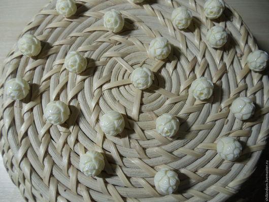 """Для украшений ручной работы. Ярмарка Мастеров - ручная работа. Купить Резные бусины """"Артишоки"""" из прессованного коралла-12мм. Handmade."""