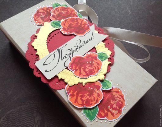 """Подарочная упаковка ручной работы. Ярмарка Мастеров - ручная работа. Купить Коробочка купюрница """" Яркая"""" на День Рождения. Handmade."""