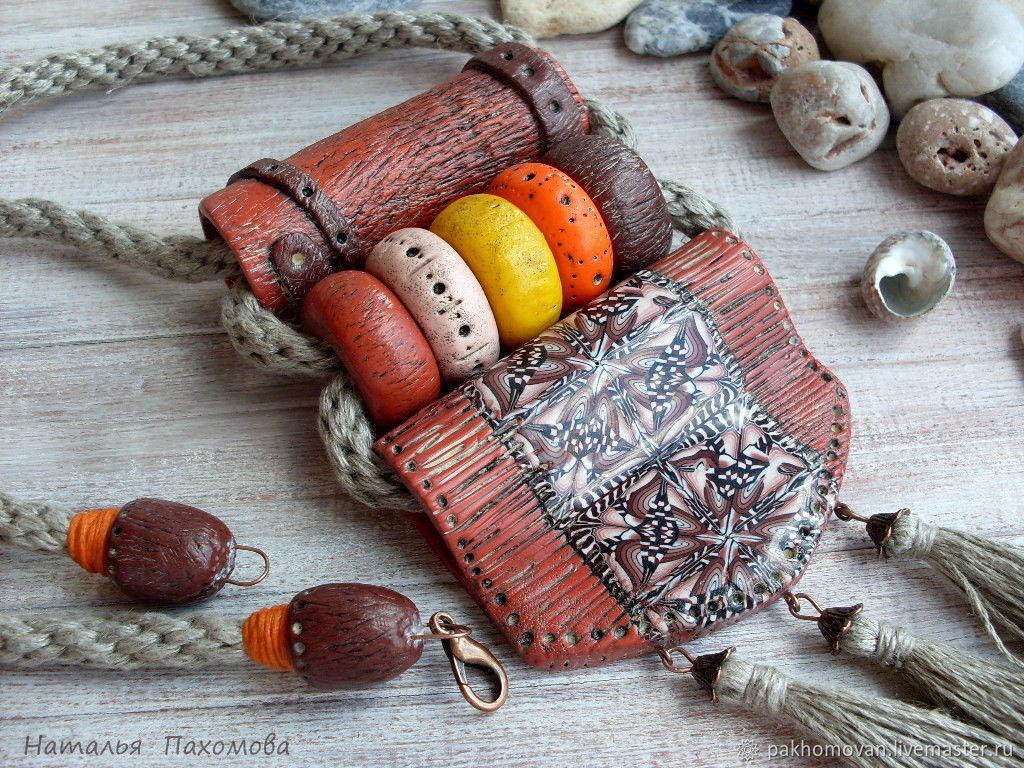 Кулон из полимерной глины. Мексиканские мотивы. Бохо кулон, Кулон, Зеленоград,  Фото №1