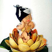 Куклы и игрушки ручной работы. Ярмарка Мастеров - ручная работа Малыш в кувшинки!. Handmade.