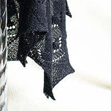 Аксессуары ручной работы. Ярмарка Мастеров - ручная работа Большая черная шаль. Handmade.
