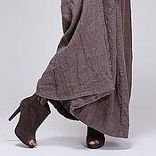 Одежда ручной работы. Ярмарка Мастеров - ручная работа Льняное бохо платье 4-10 умбра. Handmade.