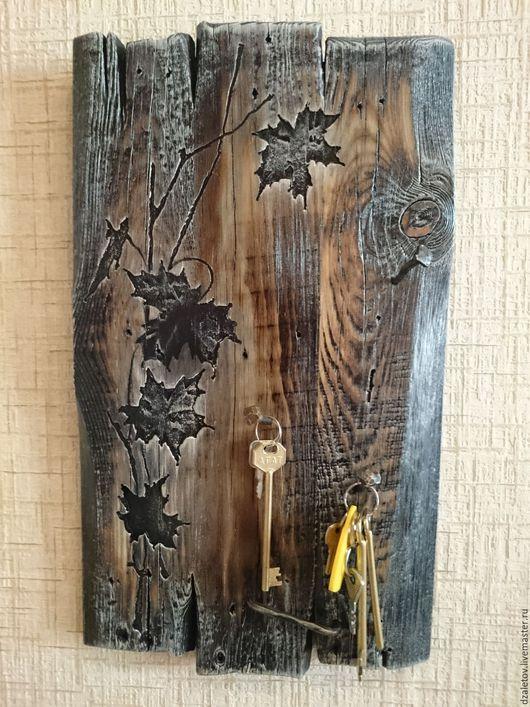 Прихожая ручной работы. Ярмарка Мастеров - ручная работа. Купить Ключница с листочками и коваными гвоздями. Handmade. Ключница, элемент интерьера