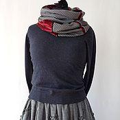 Комплект из длинной юбки в стиле бохо и снуда - шарфа
