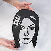 Фотокартины ручной работы. Ярмарка Мастеров - ручная работа Портрет на заказ по фотографии - металл. Handmade.