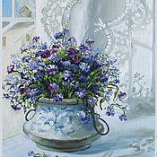 """Картины ручной работы. Ярмарка Мастеров - ручная работа Картина маслом """"Цветы"""". Handmade."""