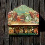 """Для дома и интерьера ручной работы. Ярмарка Мастеров - ручная работа Ключница """"Осени прекрасные дары """". Handmade."""