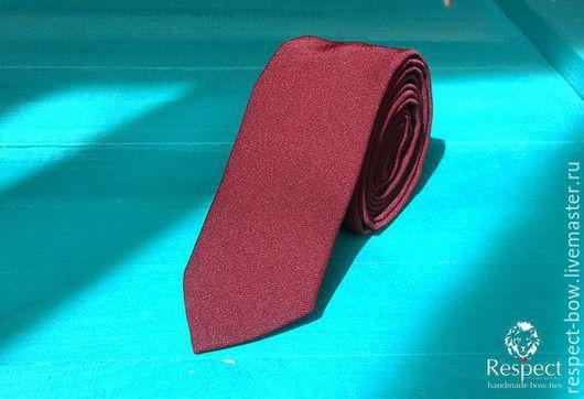 Галстуки, бабочки ручной работы. Ярмарка Мастеров - ручная работа. Купить Бордовый галстук Марсала / купить бордовый галстук в интернет магазине. Handmade.