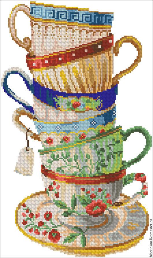 Схема для вышивки чешским бисером `Кружки`