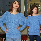 """Одежда ручной работы. Ярмарка Мастеров - ручная работа обьёмный свитер """"С косами"""". Handmade."""