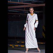 Одежда ручной работы. Ярмарка Мастеров - ручная работа Белое платье с розовым кружевом. Handmade.