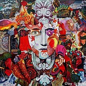 """Картины и панно ручной работы. Ярмарка Мастеров - ручная работа картина """"Карнавал"""" (Красная серия из 3-х картин). Handmade."""